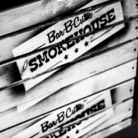 black and white Bar-B-Cutie sign